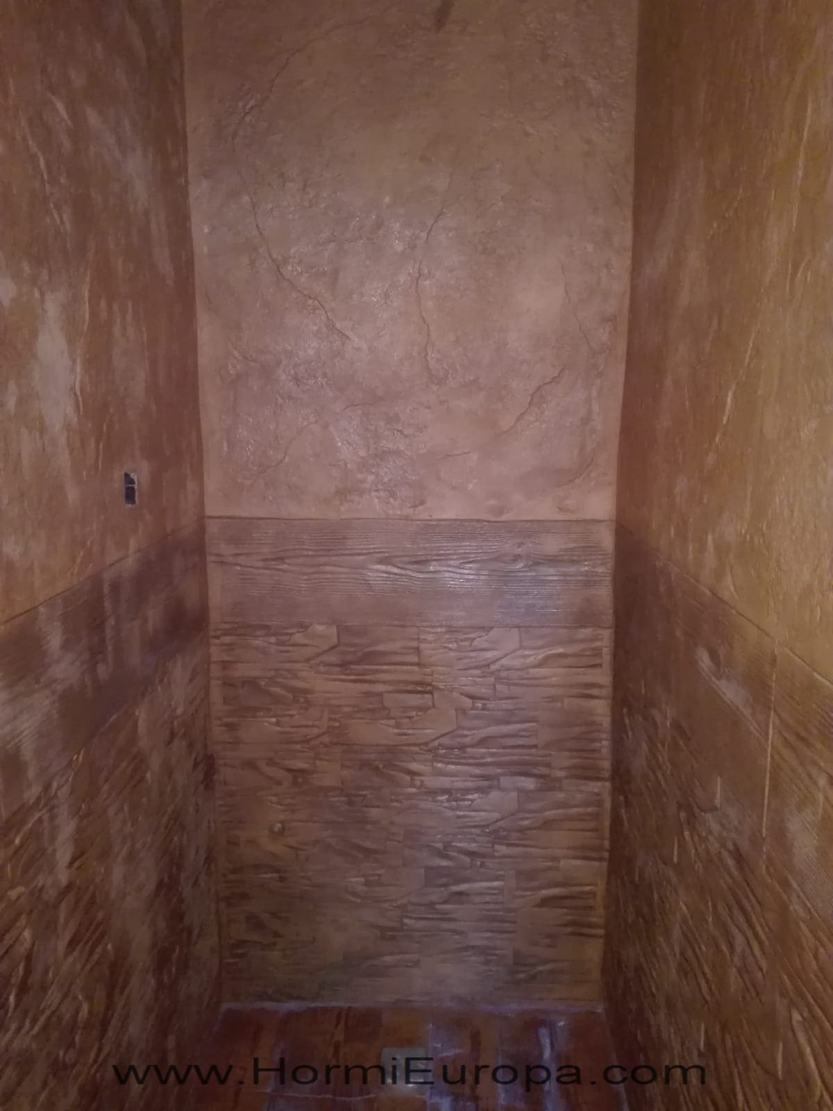 hormigon impreso vertical habitacion