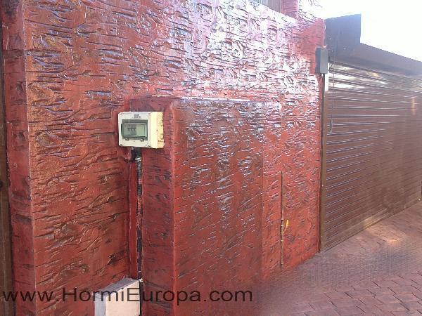 Impreso vertical hormigon impreso y pulido hormieuropa - Hormigon impreso vertical ...